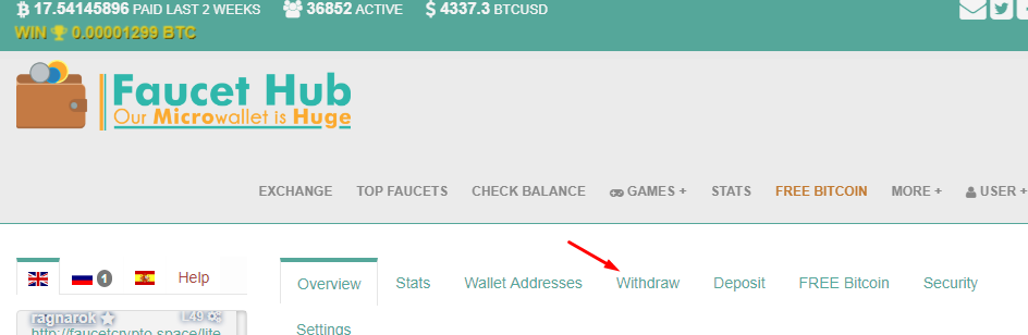 Withdraw Faucethub to Coins ph - Bitpinoy